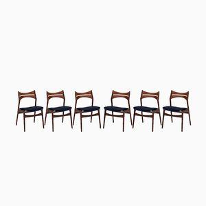 Modell 310 Esszimmerstühle von Erik Buch für Christiansen Mobelfabrik, 1960er, 6er Set