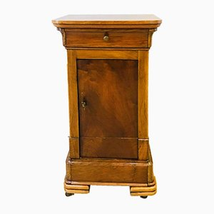19th Century Bedside Table in Solid Walnut