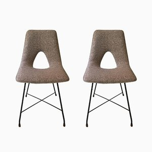 Aster Side Chairs by Augusto Bozzi for Saporiti Italia, 1950s, Set of 2