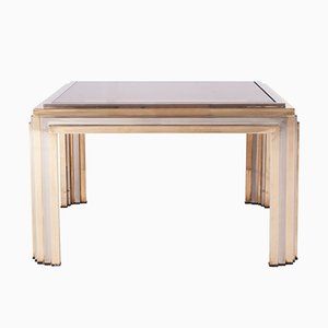 Brass & Chrome Coffee Table by Romeo Rega, 1970s
