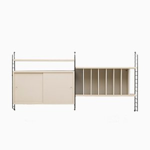 Swedish Modular Wall Unit by Nisse Strinning for String, 1950s
