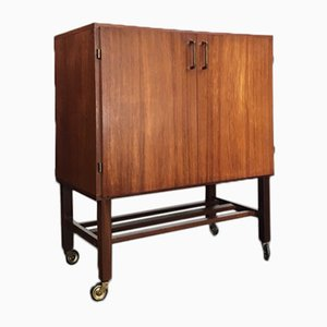 Mid-Century Teak Record Storage Cabinet