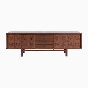 Brutalist Sideboard in Oak, 1970s