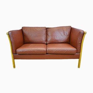 Hellbraunes 2-Sitzer Leder Sofa von Stouvon, 1980er
