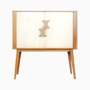 Scandinavian Modern Tambour Cabinet, 1960s