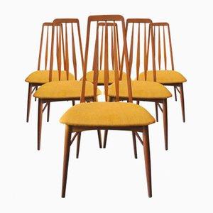 Chaises de Salon Eva par Niels Koefoed pour Hornslet Møbelfabrik, 1960s, Set de 6