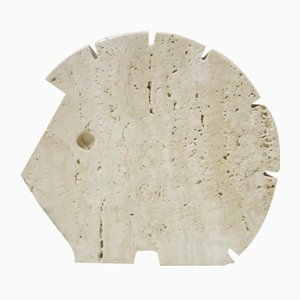 Italian Travertine Hedgehog Sculpture from Fratelli Mannelli, 1970s