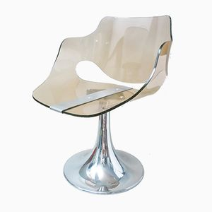 Space Age Smoked Altuglas Chair, 1970s