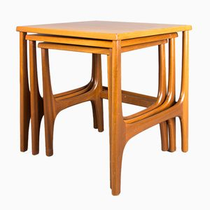 Mid-Century Teak Nesting Tables by Stateroom for Stonehill