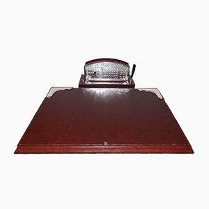 Italienisches vintage Schreibtisch Set mit Silber Details