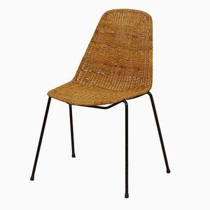 Basket Stuhl von Gian Franco Legler, 1950er