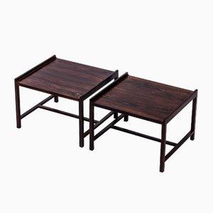 Table d'Appoints en Palissandre par Ingemar Relling pour Brödrene Blindheim, 1960s, Set de 2