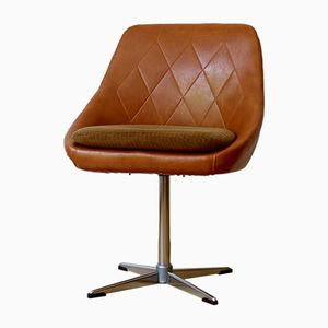 Swivel Lounge Chair in Skai, 1960s