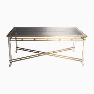 Mid-Century Brass & Glass Dining Table