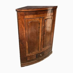 Antique Cherrywood Corner Cupboard with Drawer and Shelves