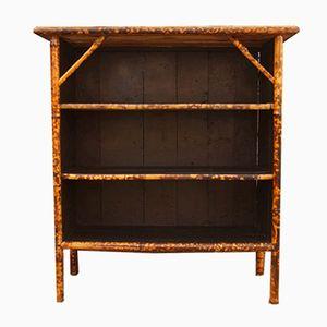 Antikes englisches Bambus Bücherregal