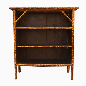 Antique English Bamboo Bookcase