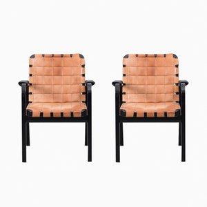 Modell 44 Armlehnstühle von Alvar Aalto für Artek, 1975, 2er Set