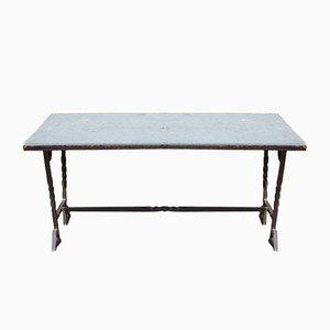 Französischer Tisch aus Schmiedeeisen, 1940er