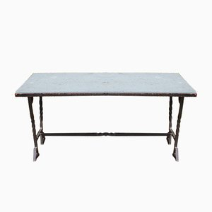 French Wrought Iron Table, 1940s