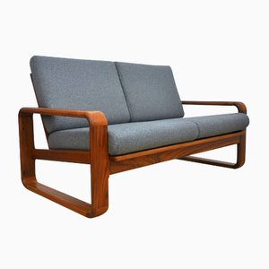 2-Sitzer Sofa aus massivem Teakholz, 1970er