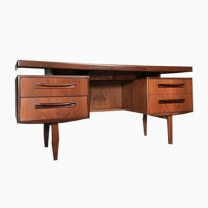 Mid-Century Fresco Floating Teak Desk from G-Plan