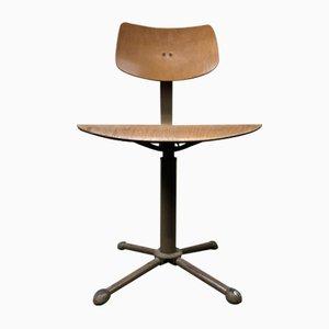 Chaise d'Atelier Pivotante Vintage Bauhaus, Allemagne,