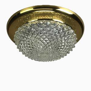 Vintage Brass Flush Mount Ceiling Light