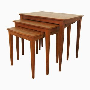 Danish Teak Stacking Tables from Kvalitet Form Funktion, 1960s