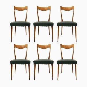 Italienische Esszimmerstühle mit gebogener Rückenlehne von Cassina, 1950er, 6er Set