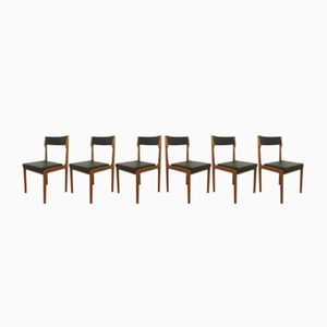 Deutsche Mid-Century Stühle von Arzberger KG, 1960er, 6er Set