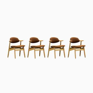 Mid-Century Cow Horn Armchairs from Tijsseling Nijkerk, Set of 4