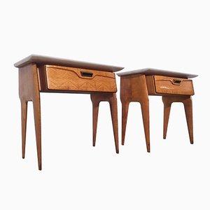 Table de Chevet Mid-Century en Erable de La Permanente Mobili Cantù, 1950s, Italie, Set de 2