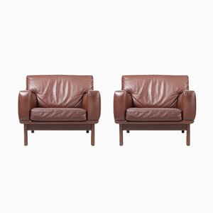 Leather Lounge Chairs from Eran, 1960s, Set of 2