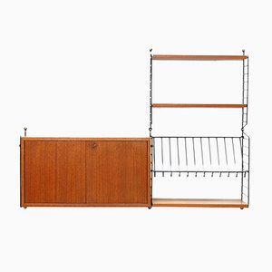 Teak Wall Shelf by Kajsa & Nisse Strinning for String, 1950s