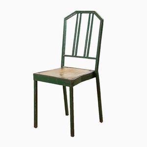 Vintage Green Metal Side Chair