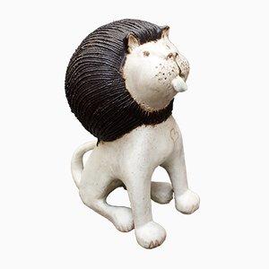 Lion en Céramique par Bruno Gambone, 1970s