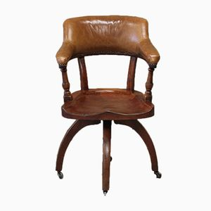 Antique English Walnut Desk Chair