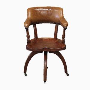 Chaise de Bureau Antique en Noyer, Angleterre
