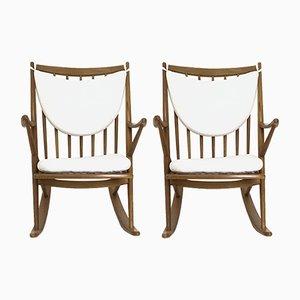 Rocking Chairs en Chêne par Frank Reenskaug pour Bramin, 1950s, Set de 2