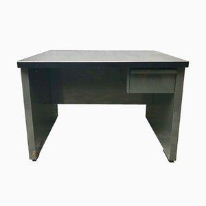 Industrieller vintage Metall Schreibtisch mit Schublade, 1970er