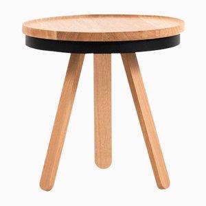 Small Oak-Black Batea Tray Table by Daniel García Sánchez for WOODENDOT