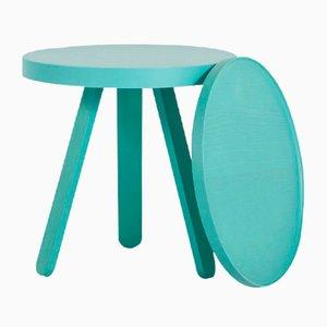 Kleiner RAL 6033 Batea Tablett Tisch in Grün von Daniel García Sánchez für WOODENDOT