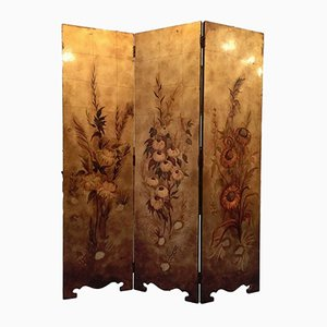 Vintage French Art Nouveau Screen, 1940s