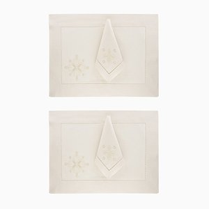Darlington Place Mats & Napkins by The NapKing for Bellavia Ricami SPA, Set of 2