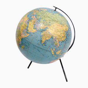 Globus auf Dreibein aus schwarz lackiertem Metall von Taride, 1967