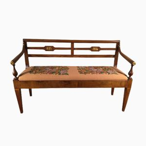 Italienisches Walnuss Sofa, 19. Jh.