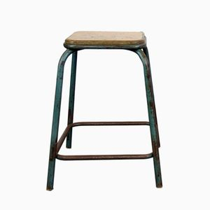French Industrial Stacking Stool, 1950s