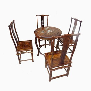 Table Basse & 4 Chaises Vintage