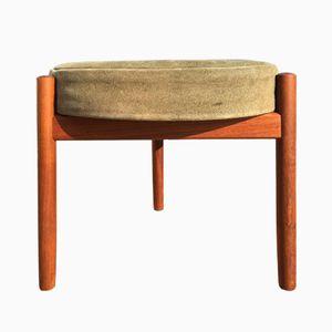 Tabouret Vintage en Teck ou Table par Hugo Frandsen pour Spottrup